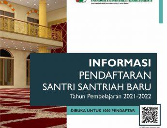 Pendaftaran Santri Baru Tahun Ajaran 2021-2022